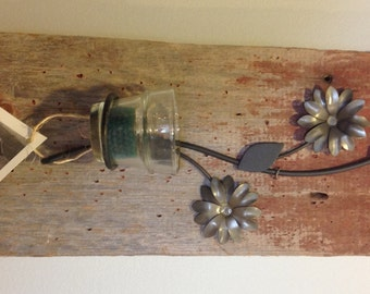 Reclaimed barn wood candle holder