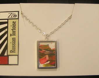 Animal Art Necklace by Russian Tortoise #RT-01