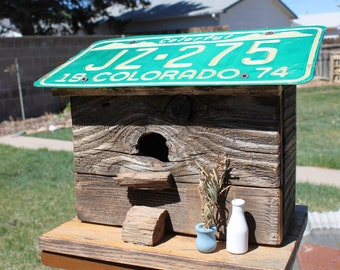 Milk bottle Birdhouse