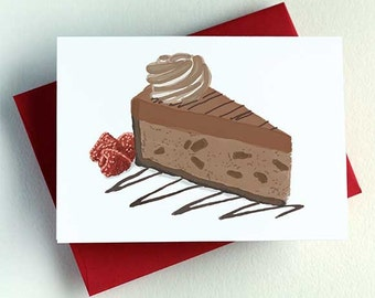 Chocolate Cheesecake Card