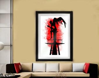 Ryuk // Death Note  // Shinigami // Pop art // Artwork // Anime wall art // Deathnote Poster // Japanese comics // Manga Print