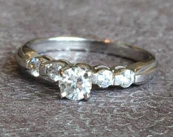 Diamond Engagement Ring, 1/2 Ct Diamond Ring, 14k Gold Diamond Ring