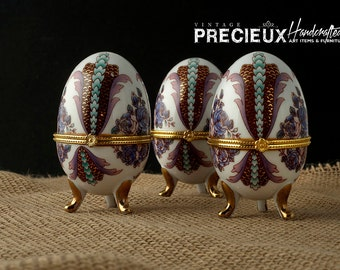 Vintage 1960's Victorian Limose Eggs (set of 3)