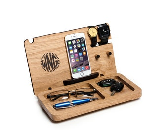 gift for him iphone docking station exclusive monogram gift for boyfriend