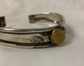 1940s Silver Cuff Bracelet