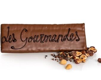 Gianduja, gianduia, praline chocolate bar, praline chocolate tablet, dark chocolate bar, milk chocolate bar, praline bar, praline tablet