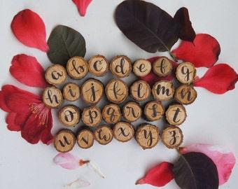 Alphabet Wood Magnets
