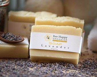 SOAP~ Lavender~Organic Soap~Cold Process Soap~Handmade Soap~Gift
