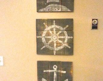 Nautical Paintings (Set)
