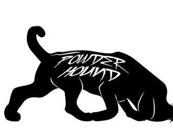 Powder Hound Snow Vinyl Sticker