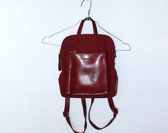 RESERVED (please do not purchase) 90's LANCEL Red Leather Backpack