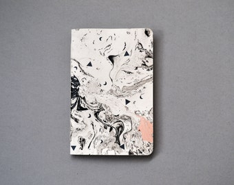 Book 10 x 15 marble and buffered beige and black