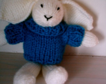 Bunny with Blue Jumper
