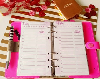 Day on 1 page Planner Insert - Undated -Personal size, fits Filofax Personal, Kikki K Medium & Kate Spade planner - SASSY COLLECTION