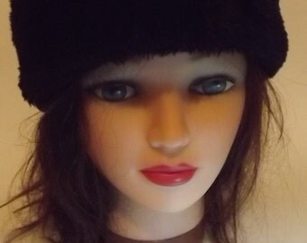 Black Vintage Fleece Hat