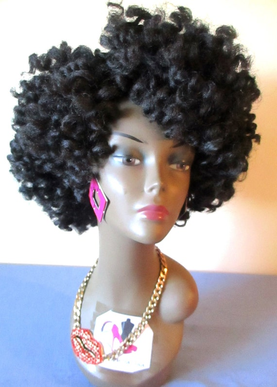 Crochet Hair Unit : CROCHET WIG Unit Synthetic Marley Hair Kinky 4C Handmade Made To Order ...