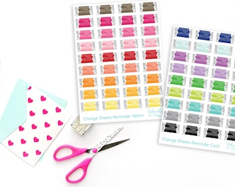 Change the Sheets Reminder Planner Stickers for Erin Condren, Plum Planner, Inkwell Press, Filofax, Kikki K or Any Size Planners