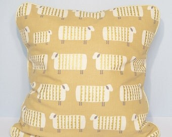 Cushion cover - Japanese fabric with golden sheep