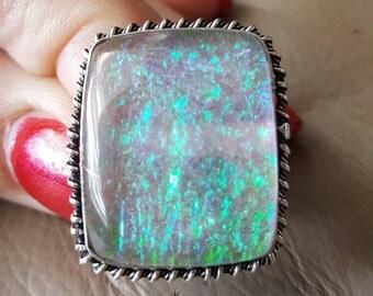 Fire Opal Ring -  size 9!