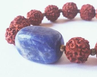 Mala bracelet Sodalite