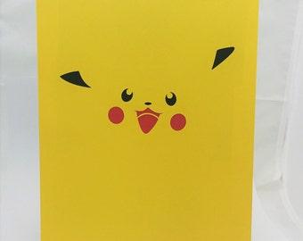 """Pikachu Pokemon Inspired Cut Paper Silhouette Portrait 8"""" x 10"""" Cut Out Art Portraits"""