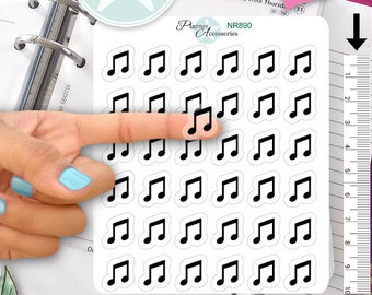 Music Stickers Music Planner Stickers Music Notes Stickers Planner Stickers Erin Condren Functional Stickers Decorative Stickers NR890