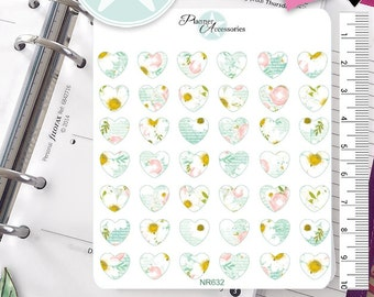 Hearts Stickers Heart Stickers Planner Stickers Erin Condren Functional Stickers Decorative Stickers NR632