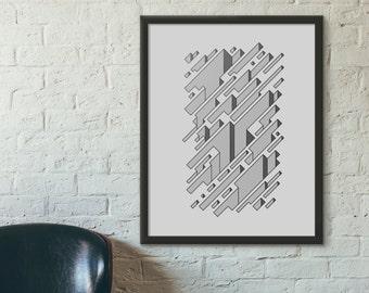 Infinite Chasm - Fine Art Digital Giclee Print