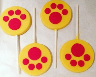 Paw Patrol chocolate lollipops - 1 dozen