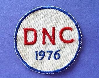 1976 - DNC Souvenir Patch .. President * Jimmy Carter * Democratic National Convention Memento