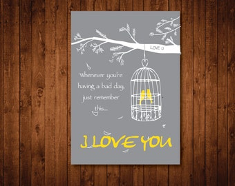 Love art print, I love you art