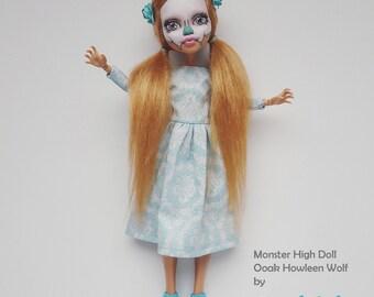 Ooak Customized Monster High Howleen Wolf Doll
