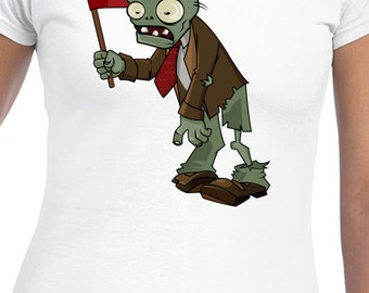 PVZ Team Zombie T-Shirt Plants VS Zombies T-Shirt PVZ Garden Ware Fare 2 Shirt