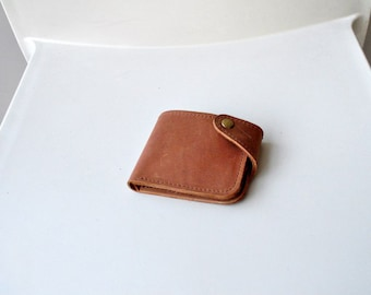 Leather billfold, handmade wallet, small leather wallet, mens wallet, minimalist wallet, womens wallet, leather wallet purse, wallet leather