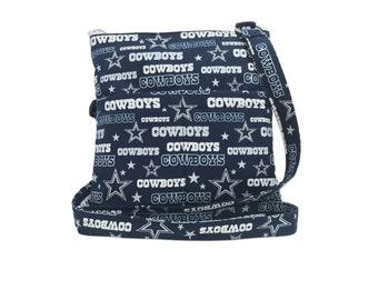 Dallas Cowboys Crossbody Bag // Sling Bag // Crossbody Purse // Shoulder Bag // Hipster // NFL
