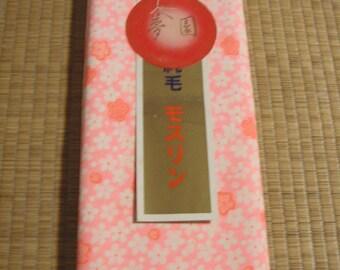Vintage kimono/jyuban/a full roll cloth/wool/light woollen fabric/Japanese apricot/ume/flower