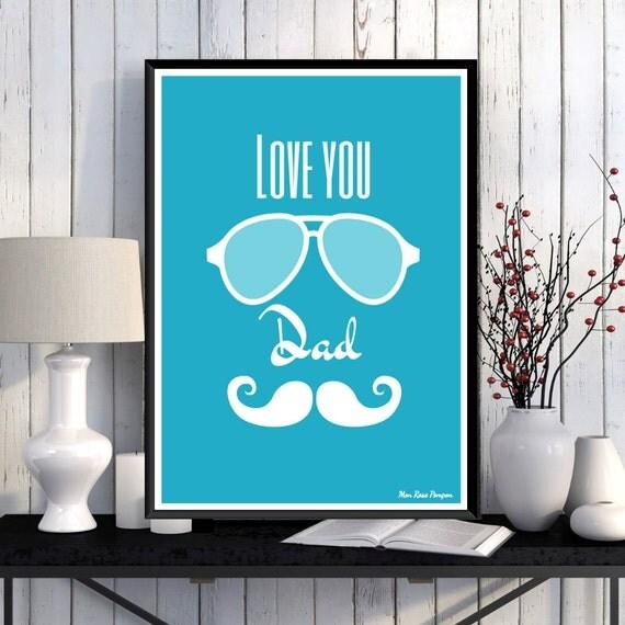 Idée cadeau papa Cadeau anniversaire Affiche à imprimer