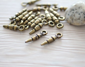 15+ Antique gold spike beads, metal spikes, spike beads, gold spikes, metal beads, spacer beads, gold charms, gold beads,EastVillageSupply