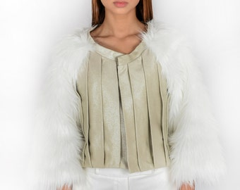 Stardust and Faux Fur Jacket