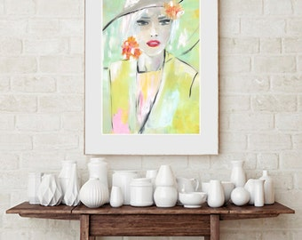 Monica, fashion print, fine art print
