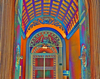 Fine Art Photo, Doorway in Italy, Tuscany decorative doorway, Wall Art