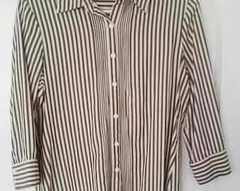 Vintage, 100% Silk, Women's Blouse, Size Medium
