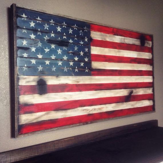 American flag wall art wood american flag by American flag wood wall art