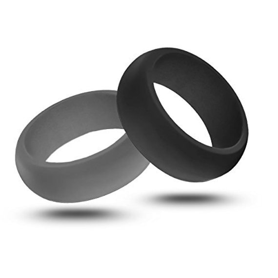 Mens rubber silicone wedding ring band best by modernfashionco for Top silicone wedding rings