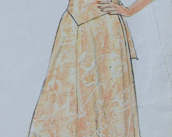 YSL Wedding & Special Occasion Dress Pattern from Vogue Paris Original - Size 14