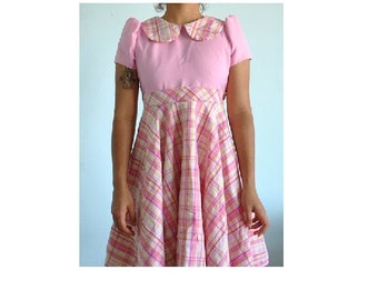 Size small pink 50's 60's styled dress