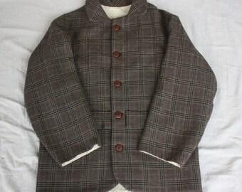 Civil War Era, 1860's Boy's Reproduction Wool Sack Coat