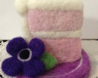 Wool Felted Cake