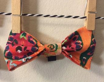Orange Pasily Bow Tie