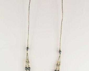 Vintage Hematite 2 strand necklace